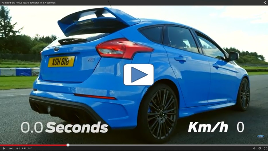 nouvelle ford focus rs 0 100 km h en 4 7 secondes et. Black Bedroom Furniture Sets. Home Design Ideas