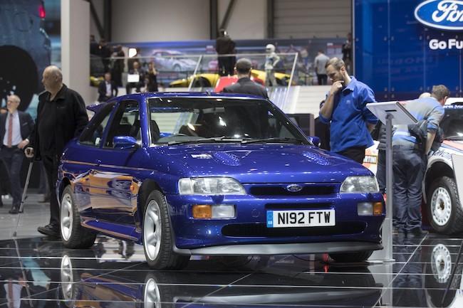 Une Ford RS Cosworth de 1992 exposée au Salon de Genève 2017